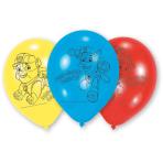 6 Latex Balloons Paw Patrol 23cm