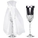 1 Stem Wear Bride and Groom   Fabric 24 x 16.5 cm
