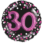 Multi Balloon Sparkling Pink 30 Foil Balloon P75 Packaged 81 x 81 cm
