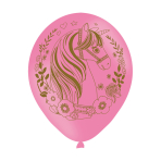 """6 Latexballoons Magical Unicorn All Round Printed 27.5 cm / 11"""""""