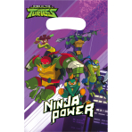 8 Party Bags Rise Of The Teenage Mutant Ninja Turtles Plastic 23.9 x 16.5 cm