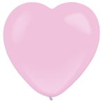 50 Latex Balloons Decorator Standard Heart Pink 30 cm / 12""