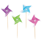 50 Pinwheel Picks Assorted 8.5cm