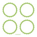 5 Sheets of Labels Kiwi 5.1 cm
