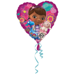 Standard Doc McStuffins Heart Foil Balloon S60 Packaged 43 cm