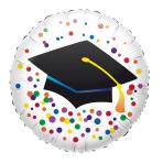 "Standard ""Graduation"" Foil Balloon Round, S40, packed, 43 cm"