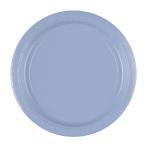 8 Plates Paper Pastel Blue 22.8cm