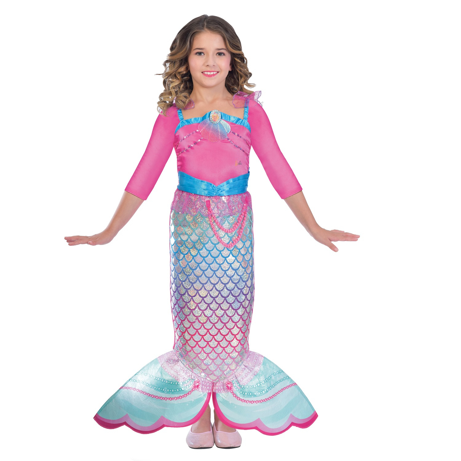 Girls Costume Barbie Rainbow Mermaid 3 5 Years Amscan