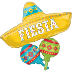 SuperShape Papel Picado Fiesta Cluster Foil Balloon P40 Packaged 78cm x 81cm