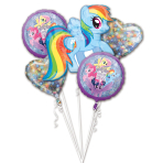 Bouquet MLP Friendship Adventure Foil Balloons P75 Packaged