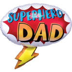 SuperShape Superhero Dad Foil Balloon P30 Packaged 68cm x 66cm