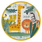 8 Plates Get Wild Round Paper 23 cm
