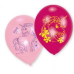 "6 Latex Balloons Unicorn 22.8 cm / 9"""