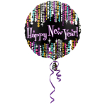 Standard Happy New Year Pizzazz Foil Balloon S40 Packaged