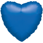 Standard Heart Metallic Blue Foil Balloon S15 Bulk