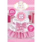 Diaper Cake Decoration Kit Girl 4 Parts 34 cm
