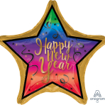 "Jumbo ""Colorful New Year"" Foil Balloon, P32, packed, 71 x 71cm"