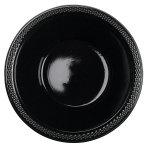 10 Bowls Plastic Black 355 ml