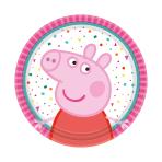 8 Plates Peppa Pig round 18 cm