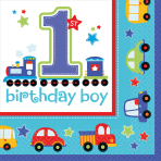 16 Napkins All Aboard Birthday33 x 33 cm