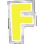 48 Stickers Letter F