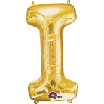SuperShape Letter I Gold Foil Balloon L34 Packaged 45cm x 81cm