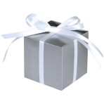 100 Treat Boxes Colourful Wedding  Silver 5.7 x 5.7 x 5.7 cm
