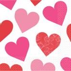 16 Napkins Key to your Heart 33 x 33 cm
