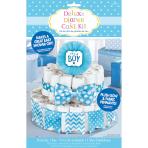 Diaper Cake Decoration Kit Boy 4 Parts 34 cm