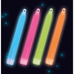 4 Glow Stick Necklaces Assorted Plastic 81 / 10 cm
