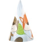 8 Party Cone Hats Fox & Beaver Paper 11.2 x 13.7 cm