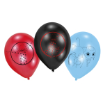 "6 Latex Balloons Miraculous 22.8 cm / 9"""