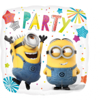 """Standard """"Despicable Me Party"""" Foil Balloon Square, S60, packed, 43cm"""