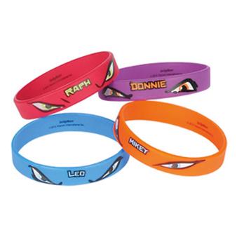 4 Rubber Bracelets Teenage Mutant Ninja Turtles