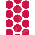 10 Paper Treat Bags Polka Dot Apple Red 11.3 x 17.7 cm