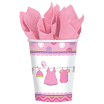 8 Cups Shower With Love - Girl Paper 266 ml