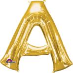 SuperShape Letter A Gold Foil Balloon L34 Packaged 93cm x 86cm