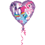 Standard My Little Pony Heart Foil Balloon S60 Bulk 43 cm