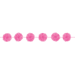 2 Fluffy Garlands Colourful Wedding, Bright Pink, 365 x 13,9 cm