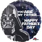 "Standard ""Star Wars-Father's Day"" Foil Balloon Round, S60, packed, 43cm"