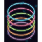 10 Glow Necklaces Assorted Plastic 56 cm