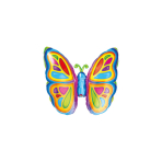 Mini Shape Bright Butterfly Foil Balloon A30 Bulk