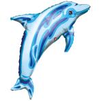 SuperShape Ocean Blue Dolphin Foil Balloon P30 Packaged