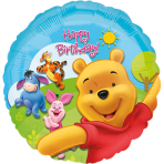 Standard Pooh & Friends Sunny Birthday Foil Balloon S60 Packaged