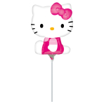 Mini Shape Hello Kitty Side Pose Foil Balloon A30 Air Filled