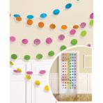 6 String Decorations Glitter Multicolour Foil 213 cm