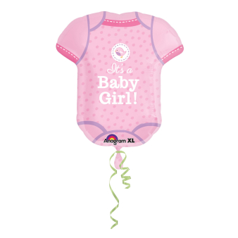 SuperShape Shower With Love Girl Foil Balloon P35 Packaged 55 x 60 cm