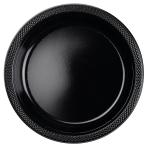 20 Plates Plastic Black 22.8cm