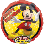 Sing-A-Tune Mickey Mouse Forever Foil Balloon P75 packaged 71cm x 71cm