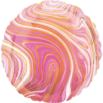 Standard Marblez Pink Circle Foil Balloon S18 Packaged